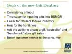 goals of the new gift database