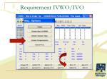 requirement ivwo ivo