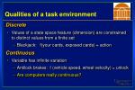qualities of a task environment4