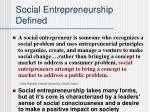 social entrepreneurship defined