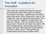 the hub a platform for innovation