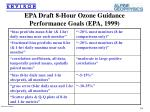 epa draft 8 hour ozone guidance performance goals epa 1999