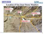 location of san juan ozone monitors