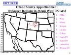ozone source apportionment 10 source regions in 36 km west us grid