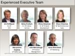 experienced executive team