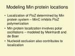 modeling min protein locations