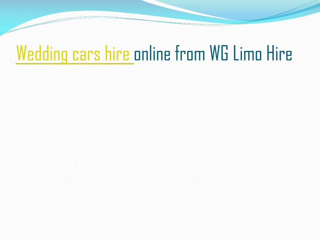 wedding cars hire online from wg limo hire l.