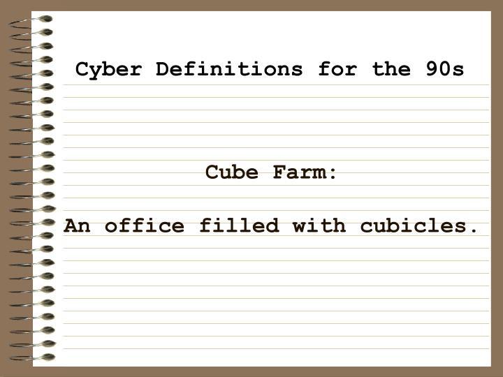 Cube Farm: