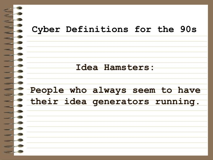 Idea Hamsters: