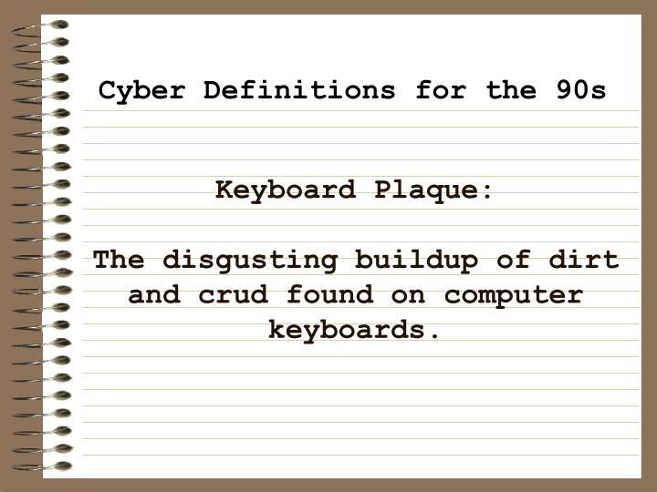 Keyboard Plaque: