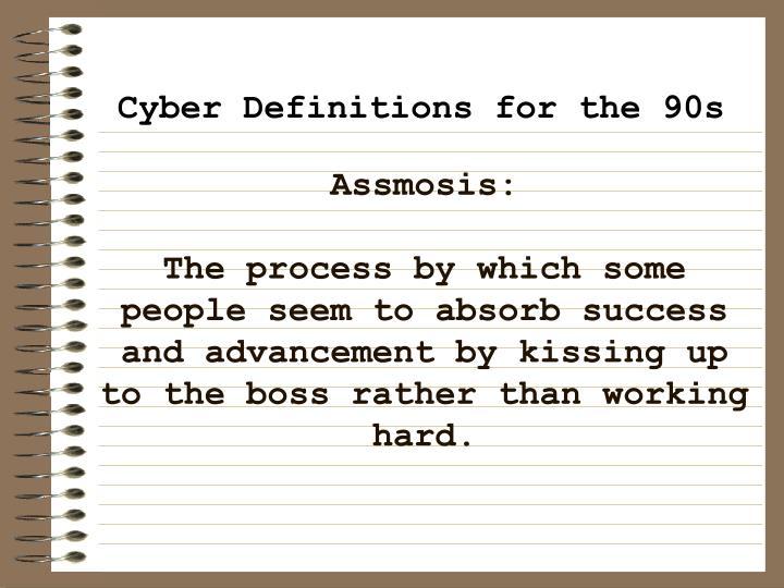 Assmosis: