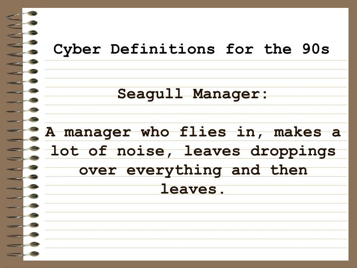 Seagull Manager:
