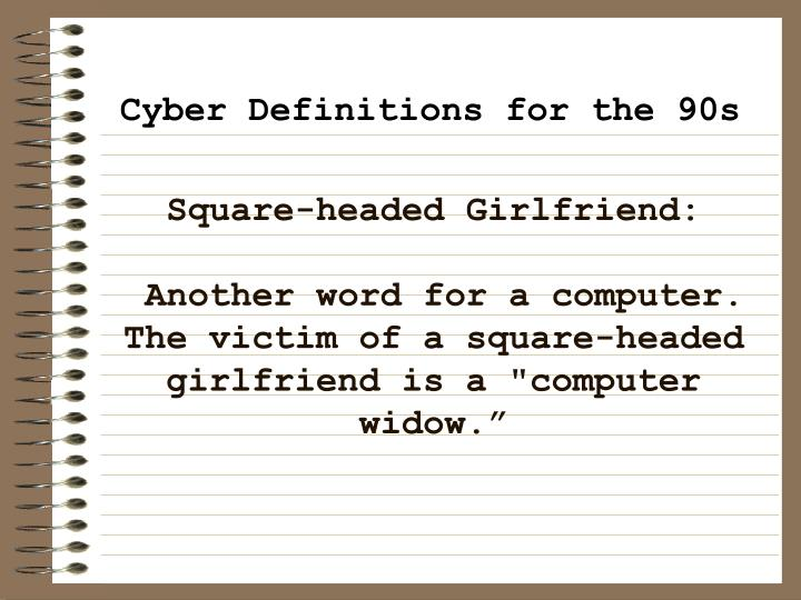 Square-headed Girlfriend: