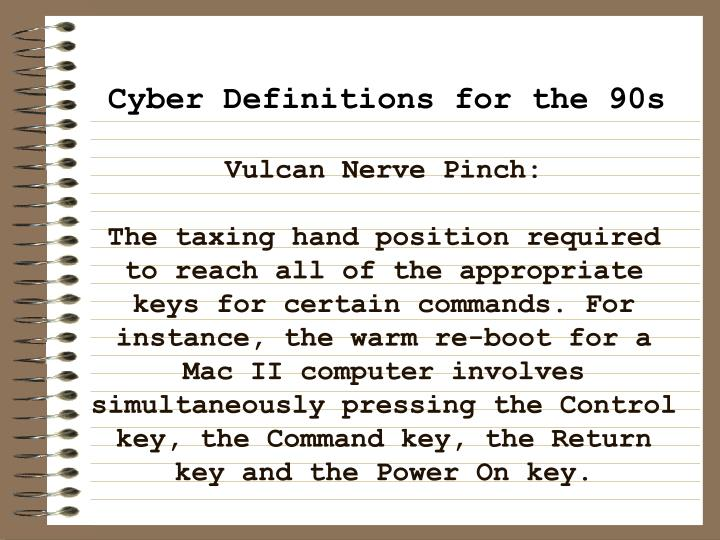 Vulcan Nerve Pinch: