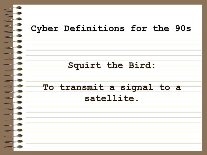 Squirt the Bird:
