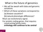 what is the future of genomics