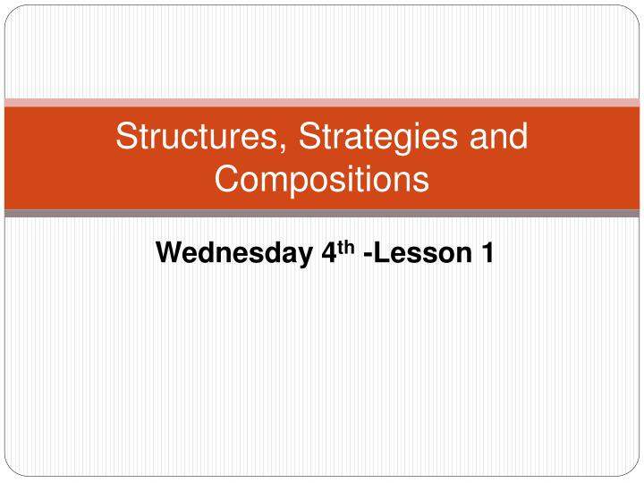 structures strategies and compositions n.