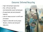concerns informal recycling
