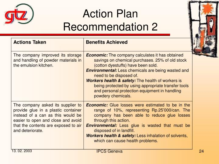 Action Plan Recommendation 2