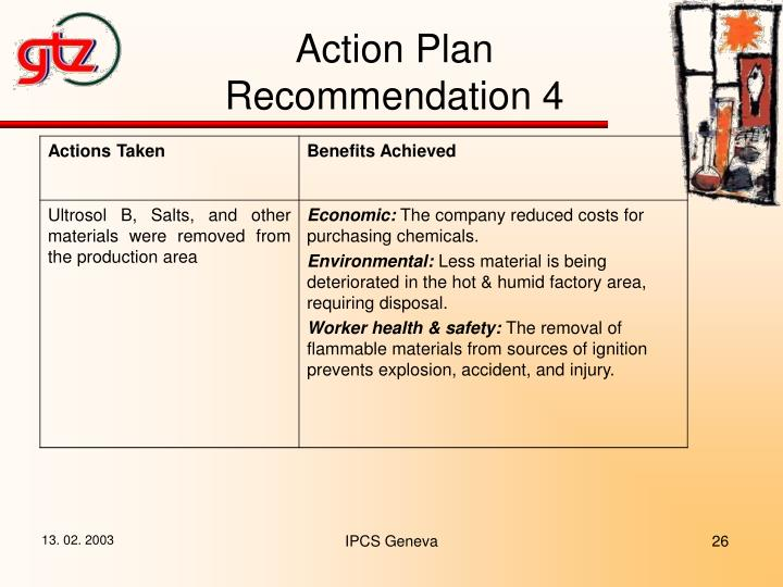 Action Plan Recommendation 4