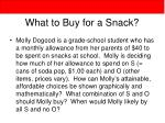 what to buy for a snack