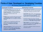 points of view developed vs developing countries