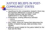 justice beliefs in post commiunist states