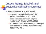 justice feelings beliefs and subjective well being outcomes1