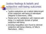 justice feelings beliefs and subjective well being outcomes2