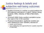 justice feelings beliefs and subjective well being outcomes3