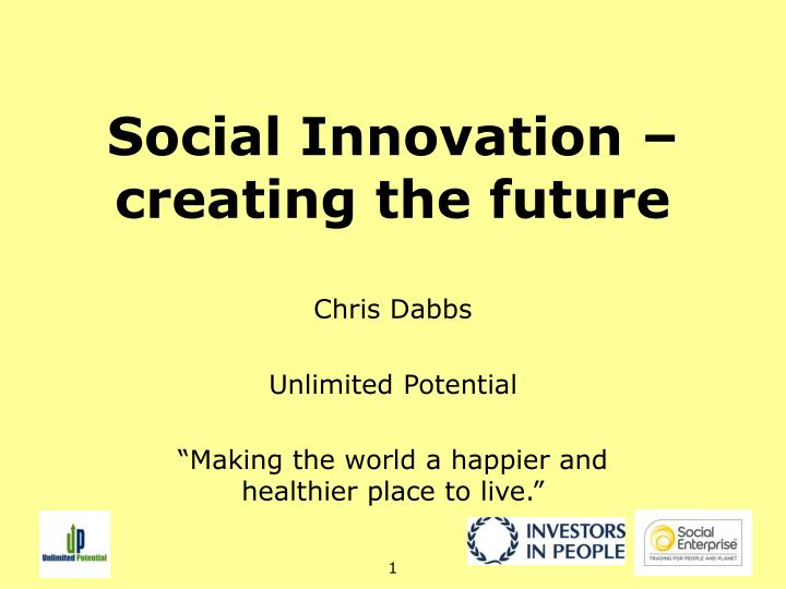 social innovation creating the future n.