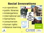 social innovations