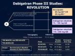 dabigatran phase iii studies revolution