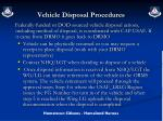 vehicle disposal procedures
