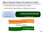 why is nuclear power promoted in india1