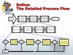 define the detailed process flow