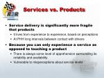 services vs products