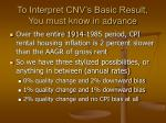 to interpret cnv s basic result you must know in advance
