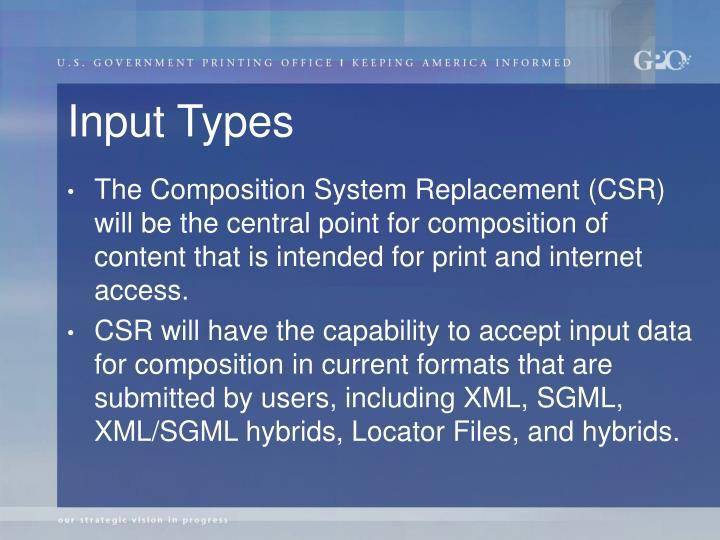Input Types