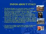 infos about italy