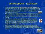 infos about slovakia