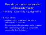 how do we sort out the number of personality traits