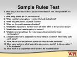 sample rules test