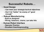 successful robots