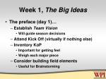 week 1 the big ideas