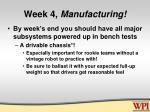 week 4 manufacturing