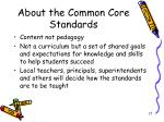 about the common core standards