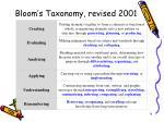 bloom s taxonomy revised 2001