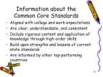 information about the common core standards