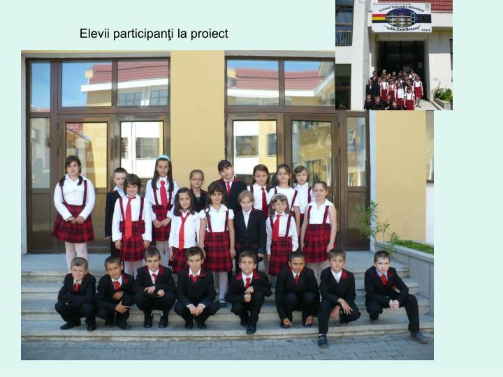 Elevii participanţi la proiect